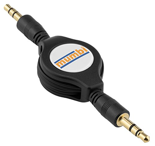 mumbi Rollup Audio Klinkenkabel - 3.5mm Klinke auf 3.5mm Klinke - aufrollbar schwarz