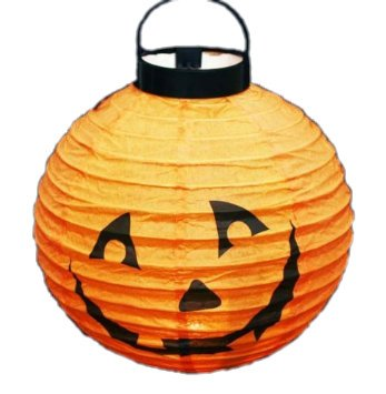 HAAC Lampion Halloween Kürbis Kürbislaterne orange leuchtend Durchmesser 20 cm Feste Laternenumzug