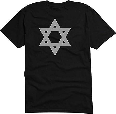 T-Shirt D960 T-Shirt Herren schwarz mit farbigem Brustaufdruck M -