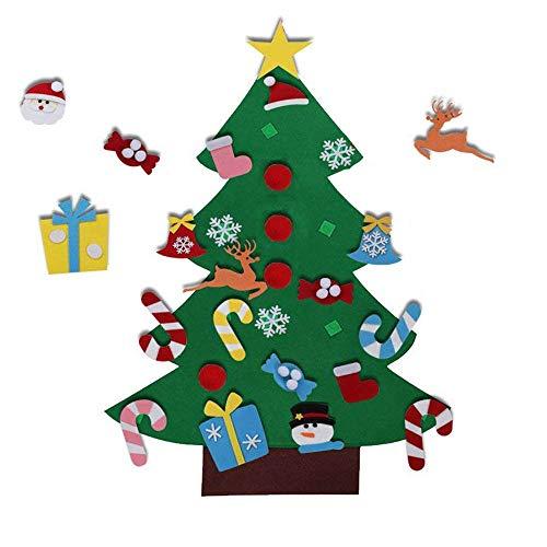 EasyBravo El árbol de Navidad del Fieltro de los 3.6FT DIY fijó + los Ornamentos Desmontables 26pcs...