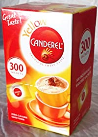 Canderel Yellow: Canderel 300 Sachet Zero Calorie Sweetner Box Canderel Yellow