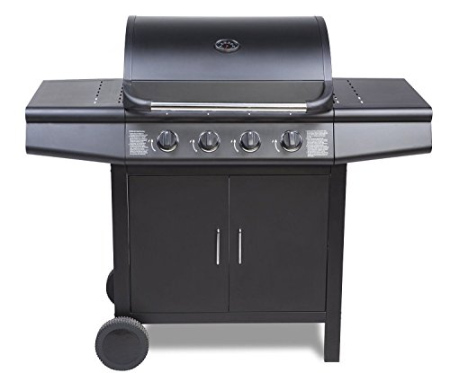 Fireplus 4+0 Gas Burner Grill BBQ Barbecue - Black