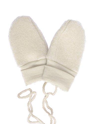 Engel-Baby scratch Mittens, 100% lana merino organica Natural Taglia unica-Per I Neonati-Circa 0-6 Mesi,