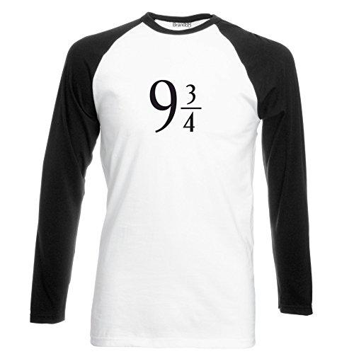 Brand88 - The Platform, Langarm Baseball T-Shirt Weiss & Schwarz