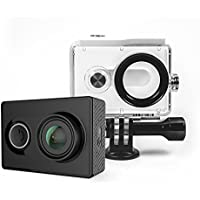 Yi Action, fotocamera con custodia impermeabile in gomma 16MP 2K 1080P/60fps, con 2.4G WiFi Bluetooth 4.0 - colore nero