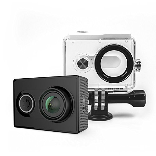 Galleria fotografica YI Action Camera con Custodia Impermeabile, Videocamera Action Cam HD, 1080p / 60 fps, 720p / 120 fps, Fotocamera Digitale 12 MP, Waterproof Case, Wifi, Bluetooth 4.0 (Nero)