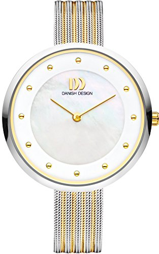 Danish Design Women's Quartz Watch with White Dial Analogue Display and Multicolour Stainless Steel Bangle DZ120515