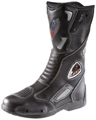 *Protectwear SB-03203-43 Motorradstiefel, Allroundstiefel, Sportstiefel aus Leder, Größe 43, Schwarz*
