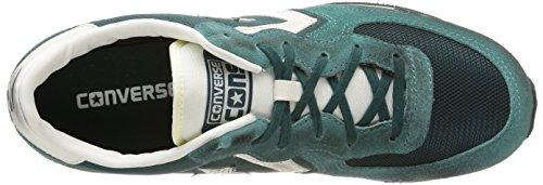 Converse  Auckland Racer Ox Nylon/Suede, Baskets Auckland Racer mixte adulte Vert - Deep Teal/Off White