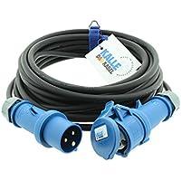 10x 2,5 m Schuko Außen Verlängerungskabel 3x1,5mm² H07RN-F Stromkabel Gummikabel