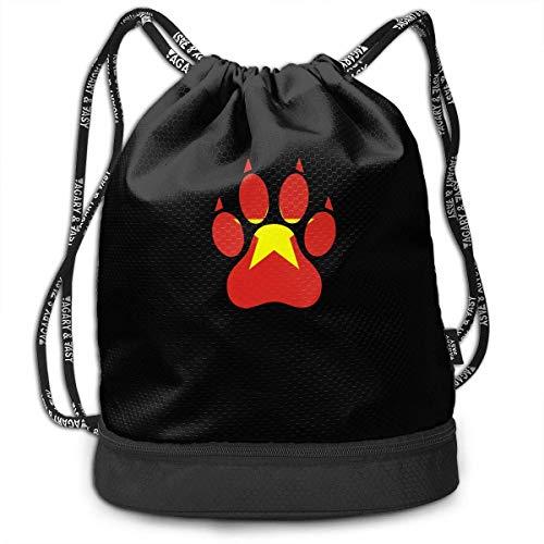 wwoman Vietnam Dog Paw Drawstring Bag Für Herren Und Damen, 100% Polyester Athletic Tote Bags -