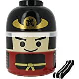 Kokeshi Samurai Bento Double-decker Lunch Box 50643 for Children Hakoya (japan import)