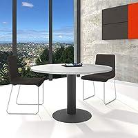 WeberBÜRO Optima runder Besprechungstisch Esstisch Küchentisch Tisch Lichtgrau Rund Ø 120 cm