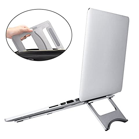 Portable Laptop Stand, J-Bonest Foldable Aluminium MacBook Stand Notebook Cooling Universal Laptop Stand Fits 11