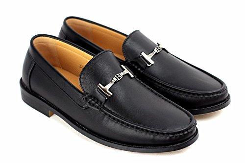 Hommes Conduite Chaussures À Enfiler Mocassins DécontractéÉlégant Mocassins Cuir Noir