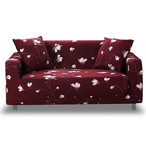 HOTNIU Elastischer Sofa-Überwürfe 1-Stück Antirutsch Stretch Sofaüberzug, Sofahusse, Sofabezug, Sofa Abdeckung Hussen für Sofa, Couch, Sessel in Verschiedene Größe und Farbe (2 Sitzer, Muster #MDX)