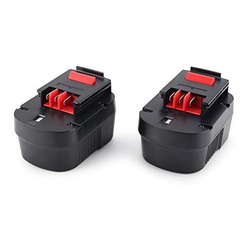 Preisvergleich Produktbild 12V 3000mAh 2pcs Ni-MH-Werkzeug Akkuakku für Black Decker Schnellladung A1714,  B-8316,  BD1444L,  BPT1048 - Schwarz