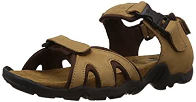 Woodland Men's Camel Leather Sandals and Floaters - 5 UK/India (39 EU)
