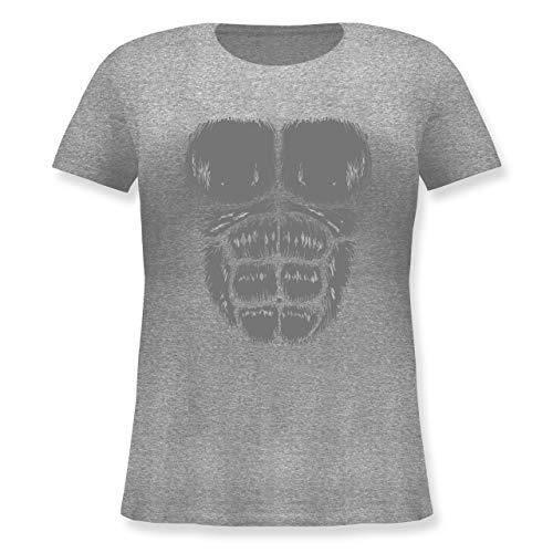 Karneval & Fasching - Gorilla Kostüm Fasching - M (46) - Grau meliert - JHK601 - Lockeres Damen-Shirt in großen Größen mit ()