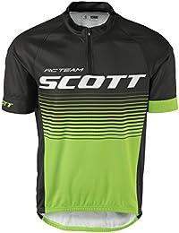 Scott RC Team 20Bicicleta Camiseta Corta Negro/Verde 2017, color verde, tamaño S (44/46)