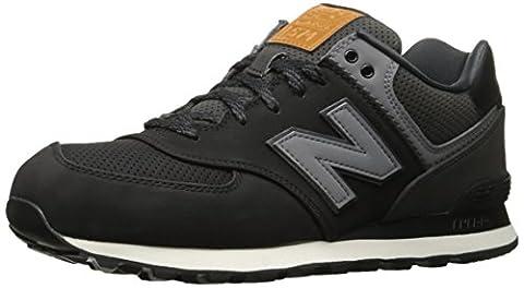 New Balance Men's 574 Trainers, Black (Black), 12.5 UK 47.5