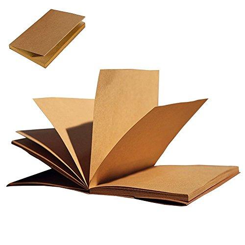 gossipboy Vintage Kraft Cover Notebook Zeichnen Scrawl Notizblock Reise Tagebuch Einband Tagebuch Memo Buch mit blanko Papier 56Blatt/112Seiten, Papier, Brown Paper, 70 - Zeitschrift Zeichnung Täglich