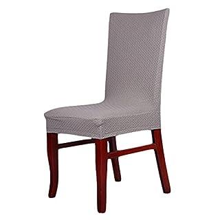 AIHOME aihometm Spandex Stretch chaircase Esszimmerstuhl Cover für Hochzeit Hotel Banquet Dekoration Silbergrau