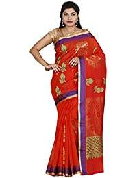 The Chennai Silks - Silk Cotton Saree Orange- (CCMYSC4829)