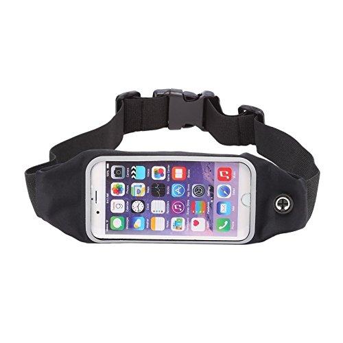 Phone case & Hülle Für IPhone 6 / 6s, wasserdichte Sport-Taillen-Beutel-Beutel mit Kopfhörer-Loch ( Color : Blue ) Black
