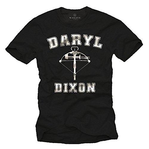 Kostüm Carl Von Film (Walking Dead T-Shirt für Herren DARYL DIXON Größe)