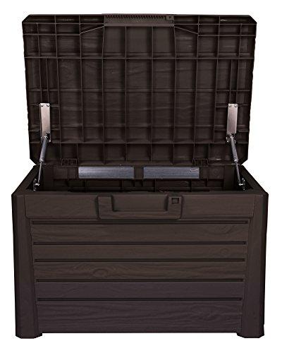 Toomax Kissenbox in Holzoptik, braun, 120L, 73cm - 2