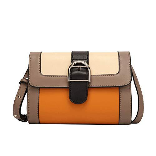 DCRYWRX Vintage Frauen Cross-Body Taschen, Leichte Schulter Lässig Leder Britischen Diagonal Kleine Quadratische Tasche Braun L8.66 * H6.3 * W2.7,Deepcoffee