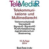 Telemediarecht Telekommunikations- und Multimediarecht: Telekummunikationsgesetz. Rahmenrichtlinie. Universaldienstrichtlinie. ... (Auszug) (dtv Beck Texte)