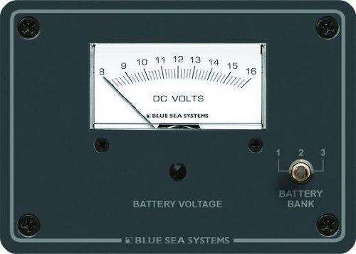 Blue Sea Systems DC Analog 8bis 16V DC Voltmeter Panel von Blue Sea Systems Blue Sea 8003 Voltmeter