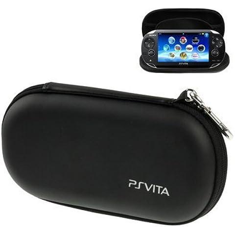 LUPO® Estuche Rígido Portátil con Absorción de Golpes para PS Vita / PSP, Tamaño: 195 × 100 × 32 mm – Proporciona Protección Segura