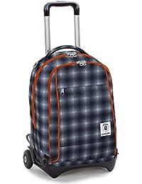 Preisvergleich für Trolley INVICTA–PLUG–schwarz orange–Rucksack abnehmbar und waschbar–Schule und Reise 35LT