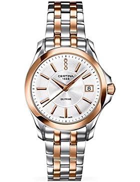 Certina Damen-Armbanduhr XS Analog Quarz Edelstahl C004.210.22.036.00