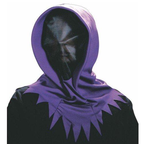Mit Kostüm Maske Reaper Grim - all4yourparty Maske mit Kapuze Halloween Horror Vampir Grim Geist Gesichtsmaske Vampir Reaper (Lila)