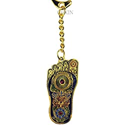 Fengshui Buda pie de Fátima amuleto llavero con hilo rojo Pulsera w3206