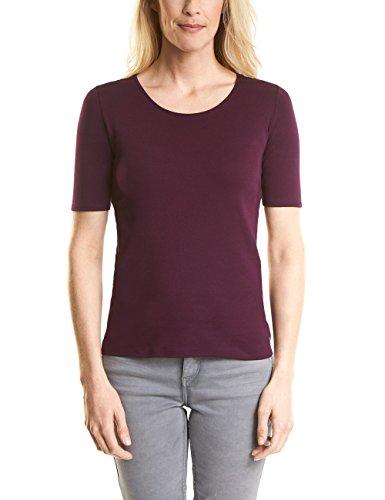 Cecil Damen T-Shirt 311780 Lena, Rot (Deep Loganberry 11343), Small