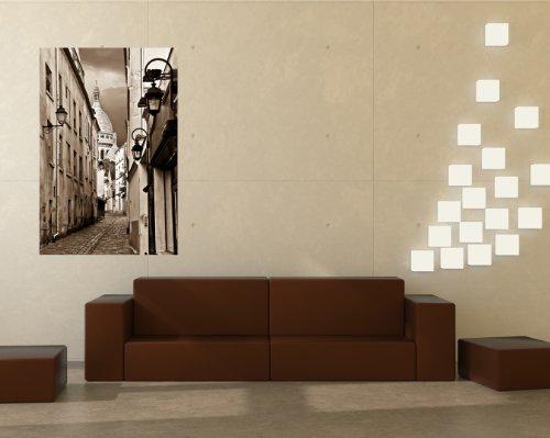 bilderdepot24-pajetee-peint-photo-autocollant-autoadhesif-alley-a-montmartre-paris-france-sephia-120