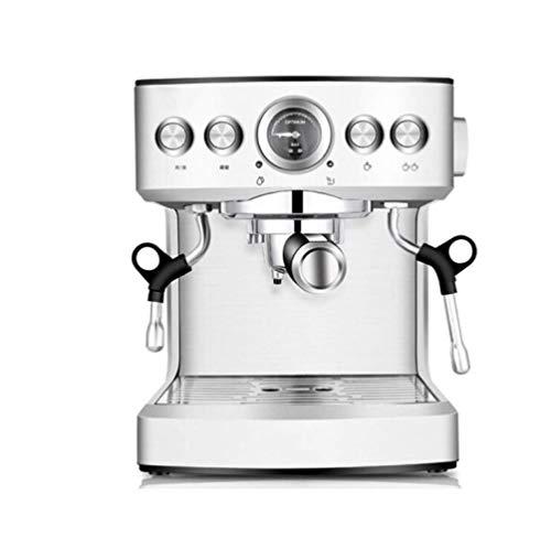 Espressomaschine, Digitale Kaffeemaschine 1150 W 19 Bar 2100 Ml Wassertank Geeignet Für Familie, Geschäft, Party,Silber,A