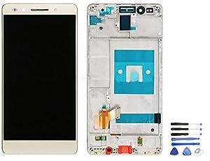 LCD Display Einheit Huawei Honor 7 kompatibel mit Rahmen Weiß + Werkzeug