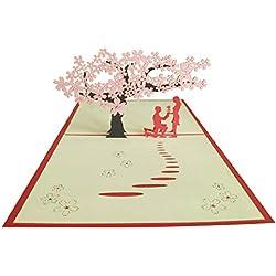 Hochzeitskarte - YeeStone 3D Karte Hochzeitseinladungen Grußkarten Hochzeit Hochzeitseinladung Valentins-Karte Jahrestagskarte Geburtstagskarte Romantik-Karte Verlobungskarte