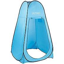 OUTAD Tenda Portatile Pop Up Tenda Privata Instantanea, Doccia & Bagno, un Camera privata e Camping a Spiaggia (Blu(120x120x190cm))