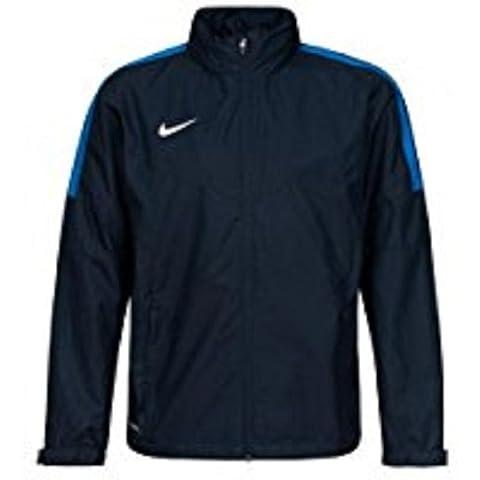 Nike Team Squad Sf1 Sdln Rain Jkt - Chaqueta para hombre, Multicolor (Obsidian/Royal Blue/White), talla L