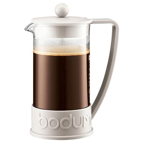 Bodum - 10938-913 - Brazil - Cafetière à Piston 8 Tasses - 1,0 L - Blanc