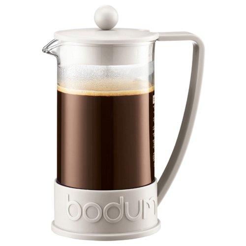 Bodum BRAZIL Kaffeebereiter (French Press System, Permanent Edelstahl-Filter, 1,0 liters) cremefarben