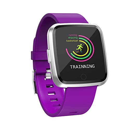 9302sonoaud Moniteur de fréquence cardiaque avec écran Tactile Y7 - Podomètre - Rappelez Le Bracelet Sport Intelligent Viola