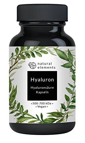 Hyaluronsäure Kapseln - Hochdosiert mit 350 mg pro Kapsel - 90 vegane Kapseln – Laborgeprüft, ohne Magnesiumstearat - Optimale Molekülgröße von 500-700 kDa - Vegan und hergestellt in Deutschland